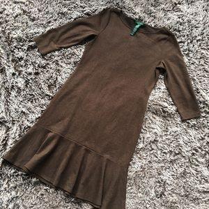 Ralph Lauren career dress brown cotton blend M